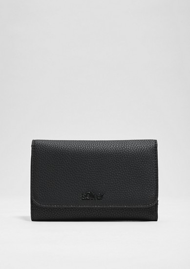 Flap Wallet in Strukturleder-Optik