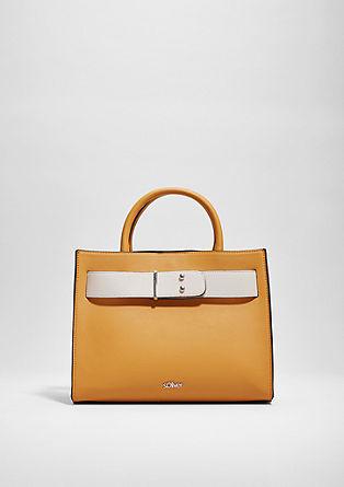 Elegante shopper met two-tone look