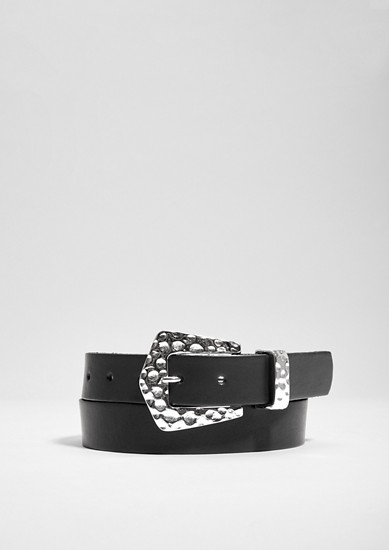 Leather belt with beautiful buckle from s.Oliver