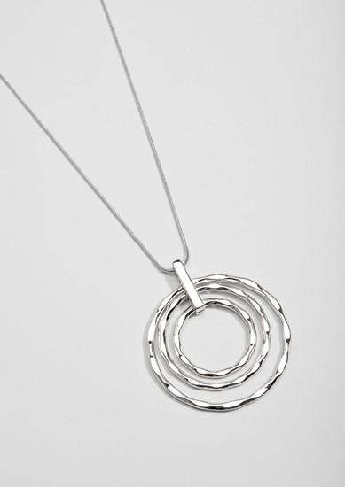 Longue chaîne à anneaux en pendentif de s.Oliver