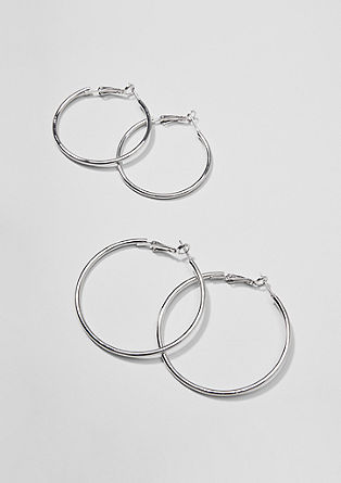 Double pack of hoop earrings in two sizes from s.Oliver