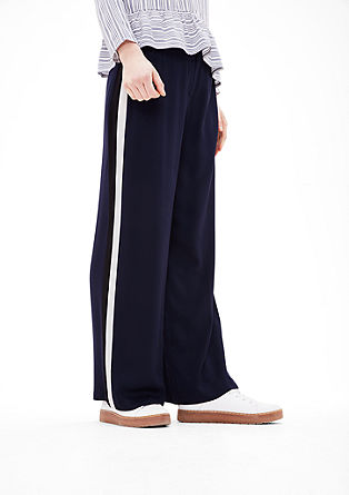 Marlene trousers with contrasting stripes from s.Oliver