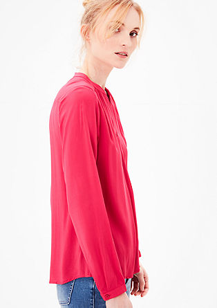 Viskose-Blusenshirt mit V-Cut