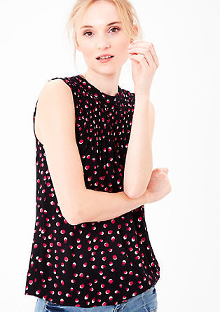 Sleeveless blouse with an all-over pattern from s.Oliver