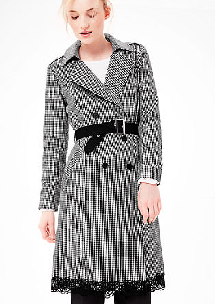 Trench coat with a check pattern from s.Oliver