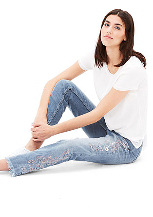 Embroidered 7/8-length jeans from s.Oliver