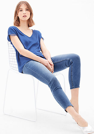Schmale 7/8-Stretch-Jeans