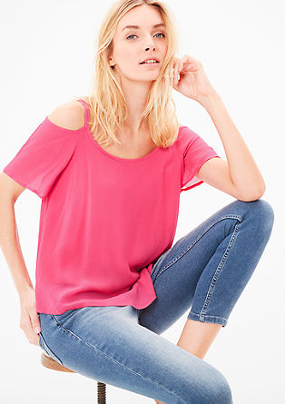 Off-the-shoulder layered-look blouse from s.Oliver