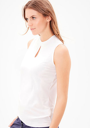 Viscose top with a cut-out from s.Oliver