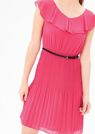 Chiffon-Kleid mit Volant