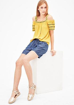 Casual shorts in a denim look from s.Oliver