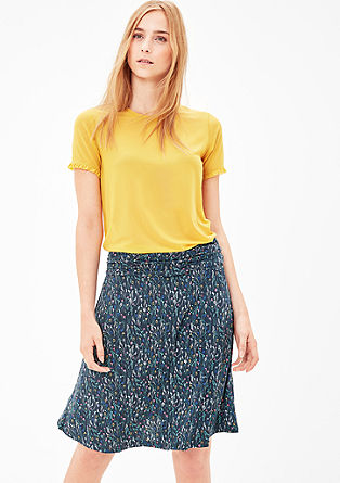 Jersey skirt in a floral style from s.Oliver