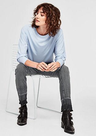 7/8 jeans hlače z ohlapnimi zaključki hlačnic