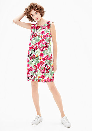 Kleid mit Tropical-Print