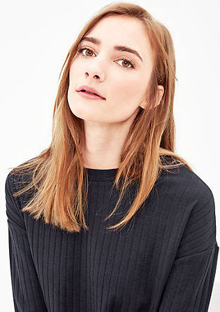 Long sleeve top with wide ribbing from s.Oliver