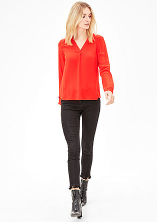 Viscose blouse top with a V-notch from s.Oliver