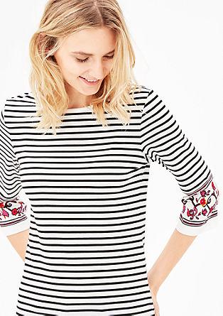 Jersey shirt met een streepjesdesign