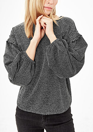 Sweatshirt in a fashionable shape from s.Oliver