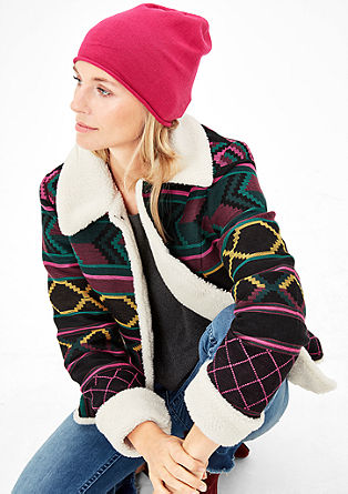 Gevoerde jas met een jacquardmotief