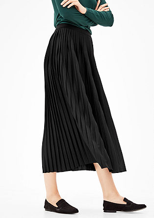 Jersey skirt with pleats from s.Oliver