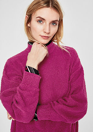 Cosy jumper with a ribbed stand-up collar from s.Oliver