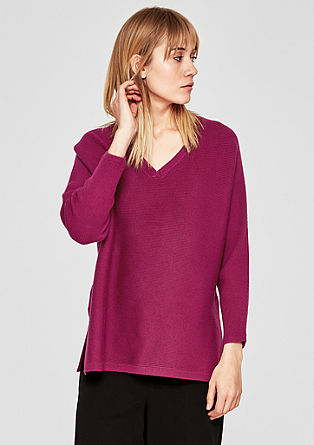 Batwing jumper with a V-neckline from s.Oliver