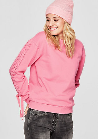 Sweatshirt with gathering at the sleeves from s.Oliver