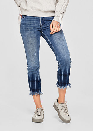Ankle-length jeans with a frayed hem from s.Oliver