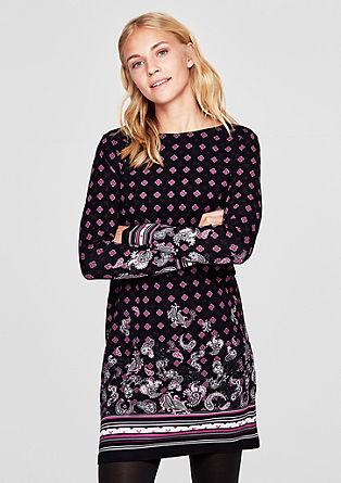 Jerseykleid mit ornamentalem Print
