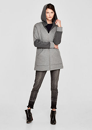 Oversized sweatshirt jacket with hood from s.Oliver