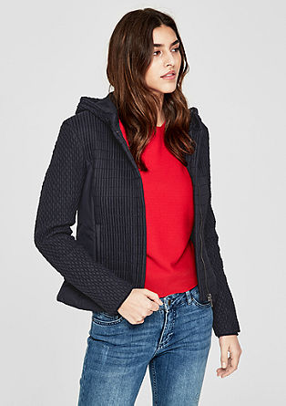 Taillierte Jacke mit Smok-Effekten
