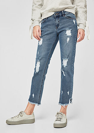Ankle Leg: jeans with distressed details from s.Oliver