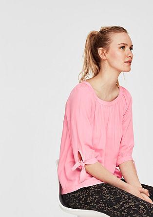 Bluse mit Knoten-Details