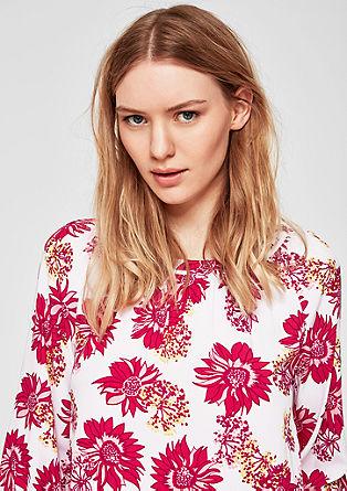 Viscose blouse met bloemenprint