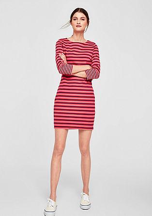 Gestreepte jersey jurk