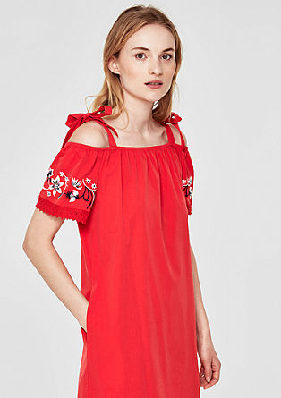 Embroidered off-the-shoulder dress from s.Oliver