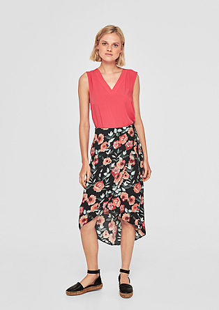 Wrap skirt with a floral print pattern from s.Oliver