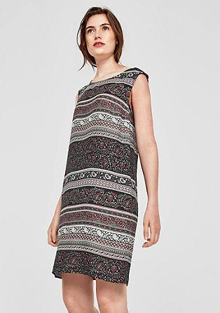 Viscose jurk met motiefmix