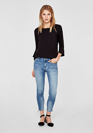 Ankle-length jeans made of stretch denim from s.Oliver