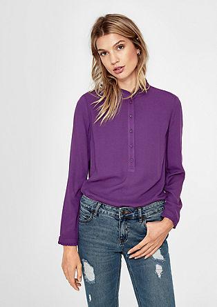 Viskose-Bluse mit Rüschen-Details
