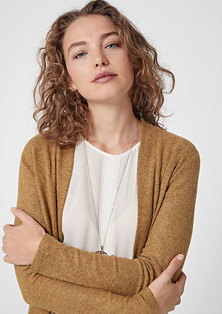 Vest in een gemêleerde look