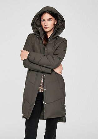 Fashionable faux down coat  from s.Oliver