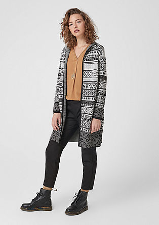 Patterned cardigan with wool from s.Oliver