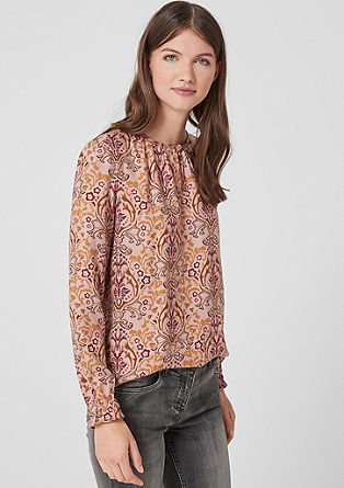 Fine blouse with a floral print from s.Oliver