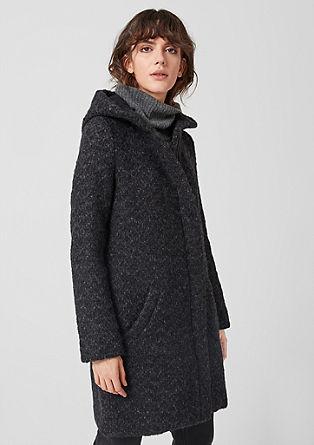 Melírovaný kabát buklé