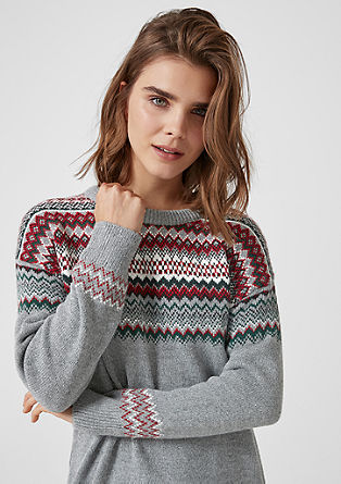 Oversized jumper with knit pattern from s.Oliver