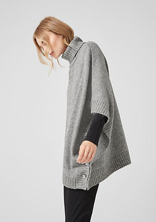 Knit poncho with a polo neck from s.Oliver