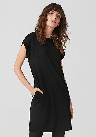Sweatshirt dress with geometric darts from s.Oliver
