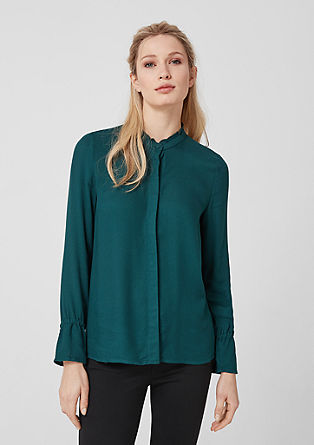Frilled blouse in viscose from s.Oliver