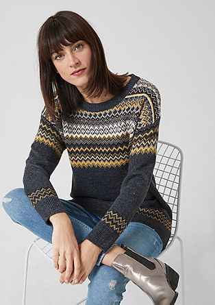 Oversized jumper with a knit pattern from s.Oliver